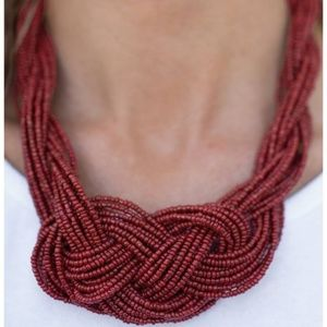 💍 5 for $25 sale! 💍 Red Seed Bead Necklace